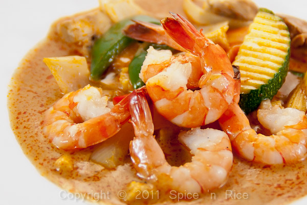 panang curry scampi